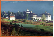 The Dzong or Monastery- Castle of Thimphu
