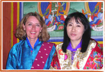 H.M. Queen Tshering Pem with Angelika Nestroy