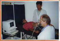 Dr. Martin Joos with patient